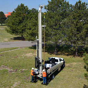 DM250 water well drill is top choice of drill rigs for tight water well drilling or residential geothermal drilling
