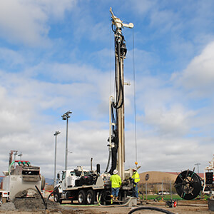 DM450 drilling truck is the larger geothermal drilling rigs for sale and water well drilling rigs for sale